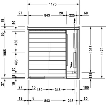 Picture of Inipi B Inipi B Super Compact Sauna, corner