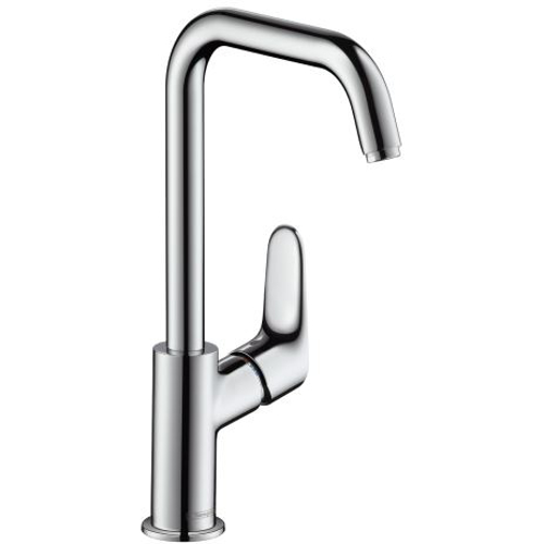 Picture of Focus Single lever basin mixer 240 with pop-up waste set and swivel spout with 120° range