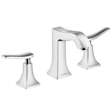 Picture of Metris Classic 3-hole basin mixer with pop-up waste set