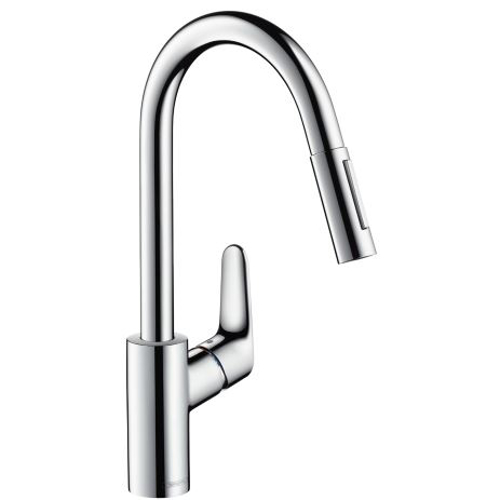 Picture of Focus Single lever kitchen mixer 240 with pull-out spray