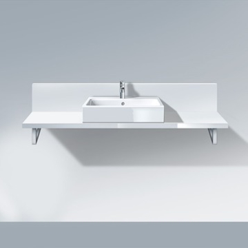 Picture of Delos Console + back panel for above counter basin and countertop basin