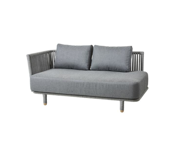 Slika od Moments 2-seater sofa, right module, incl. Grey cushion set