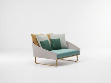 Picture of Sofa daybed aluminium textilene