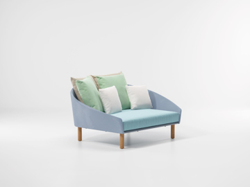 Picture of Sofa daybed wood textilene