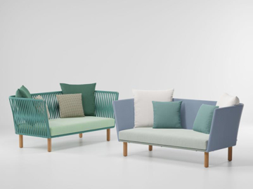 Picture of 2 seater sofa wood legs