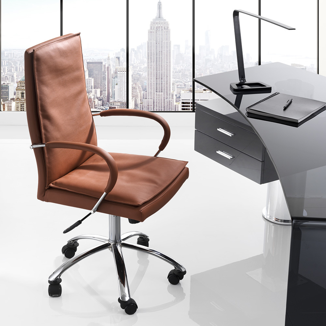 Picture of SOFT HEIGHT ADJUSTABLE OFFICE CHAIR  58x58xh115 cm