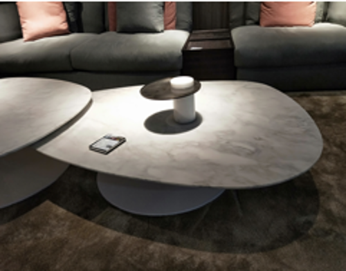 Picture of CLIFF COFFEE TABLE WHITE CARRARA MARBLE TOP 130X90X33,5 CM