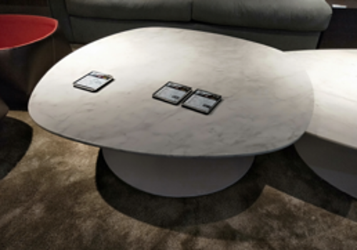 Picture of CLIFF COFFEE TABLE CARRARA MARBLE TOP 95X98X33,5 CM