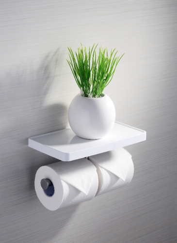 Picture of DOUBLE ROLL HOLDER WITH SHELF