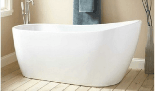 Picture of CORIAN STONE BATHTUB GLOSSY WHITE 172X80X62 CM