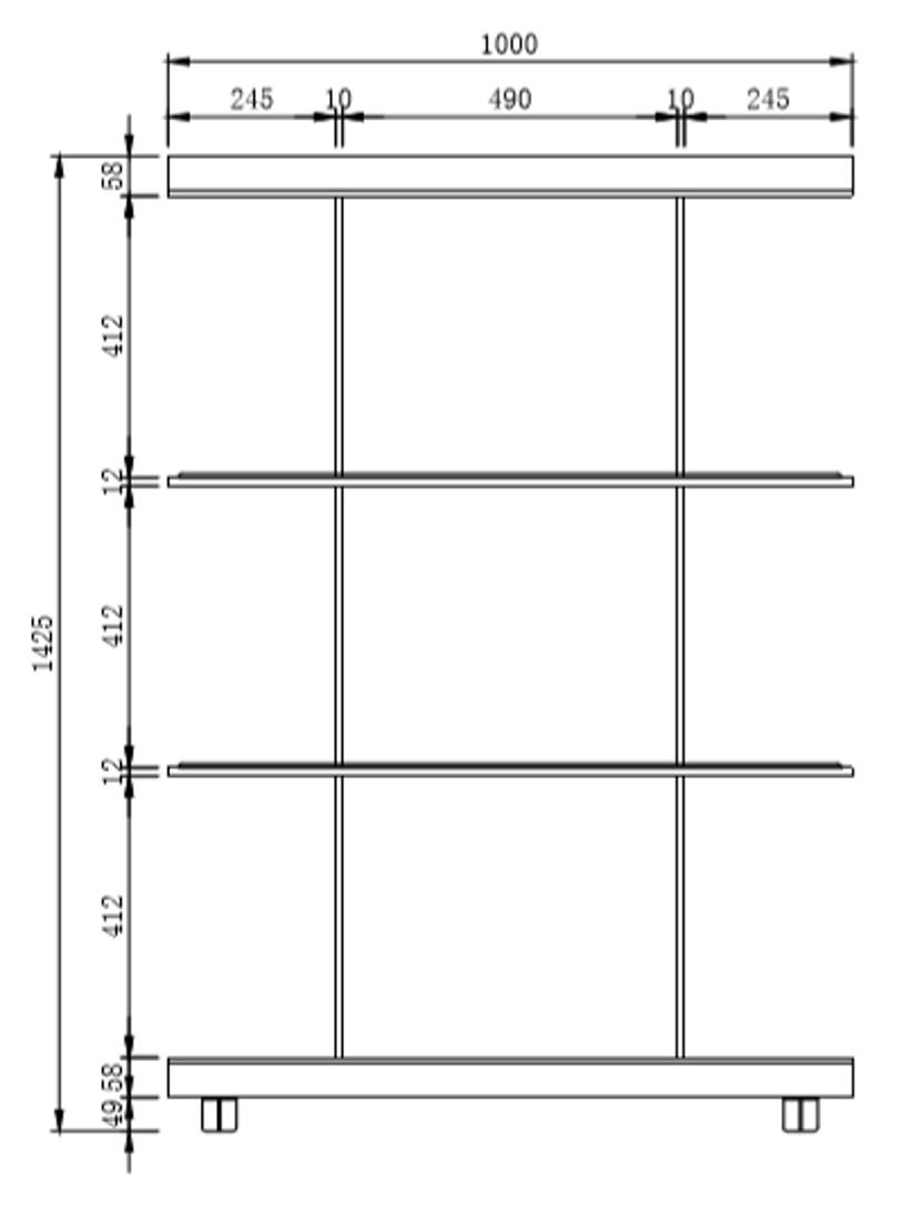 Picture of SHARPY SHELF 100x35,5x142,5 cm
