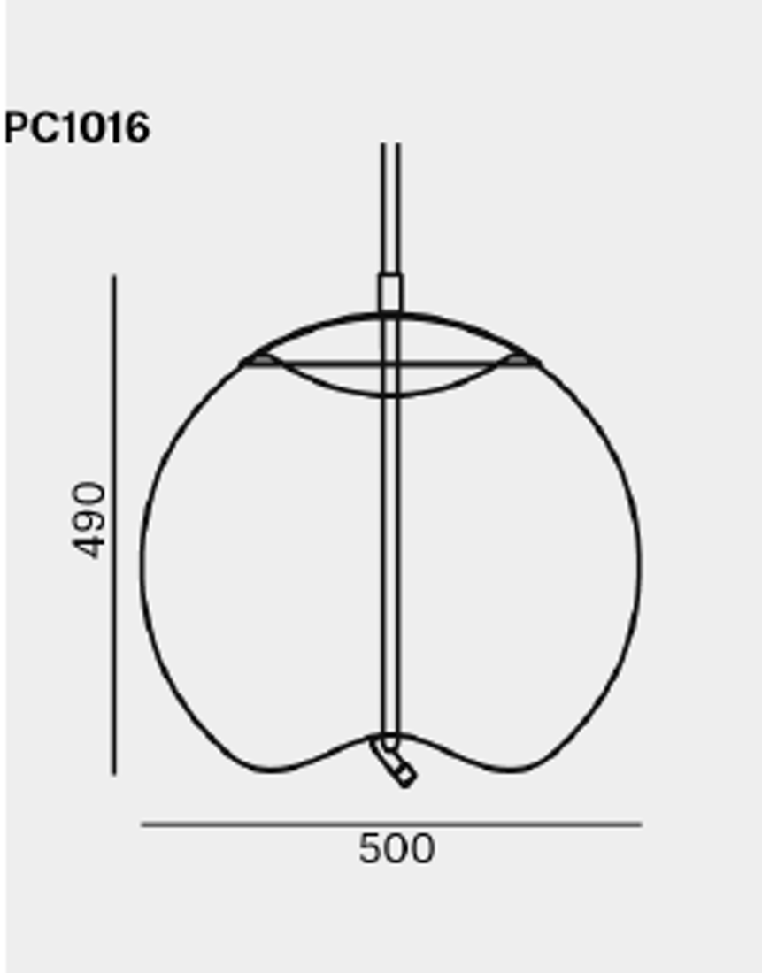 Picture of KNOT SFERA PLAFONSKA LAMPA 50X49 cm
