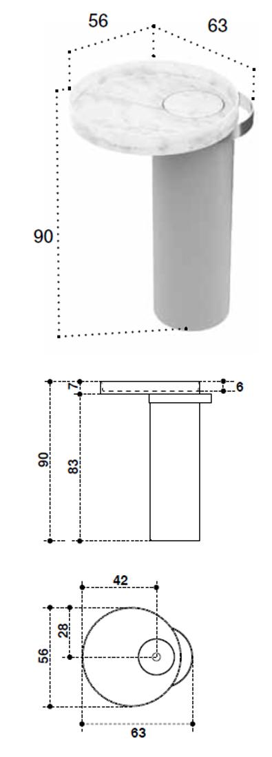 Picture of ECCENTRICO FREESTANDING SET  63x56xh90cm