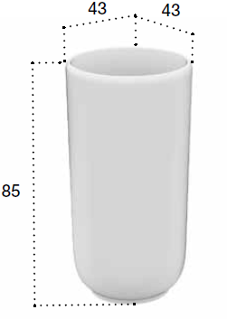 Picture of HOMEY FREESTANDING WASHBASIN 43x43xh 85 cm