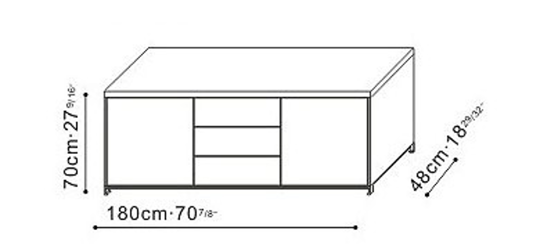 Picture of POLY TV STAND 220x45xh55 cm