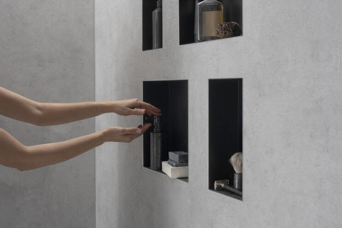 Picture of XtraStories Minimalistic zidna niša bez okvira 300/300/100 mat crna