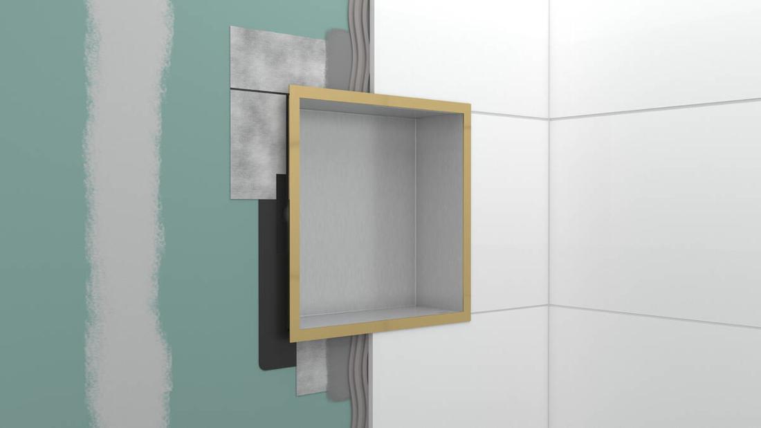 Picture of XtraStories Individual zidna niša u beloj mat boji sa dizajniranim okvirom (mat crna)