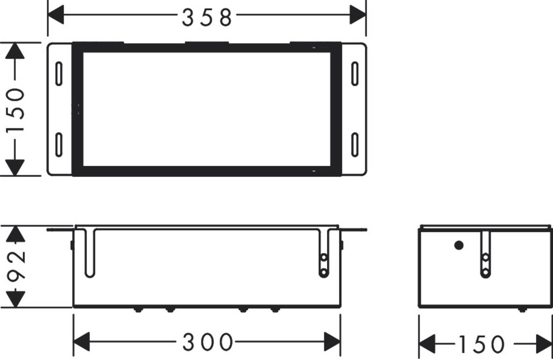 Picture of XtraStories Safe zidna niša sa vratima obloženim pločicama i ugrađenim zapornim ventilom