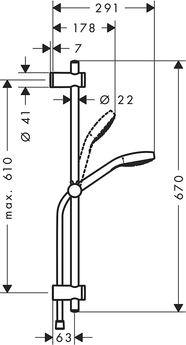 Picture of HG SHOWER SET MYSELECT E VARIO ECOSMART
