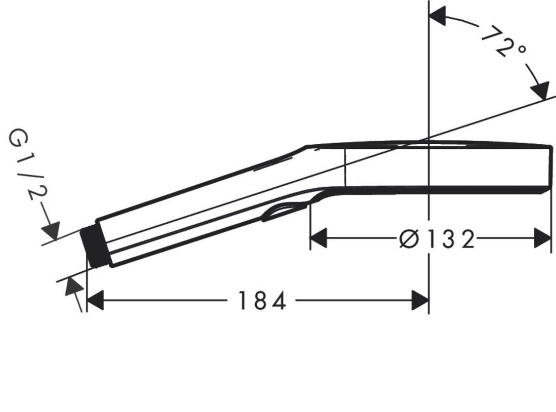 Picture of Rainfinity Hand shower 130 3jet bela mat