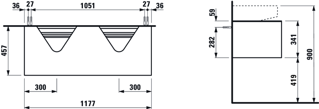Picture of SONAR FURNITURE FOR WASHBASIN 810342