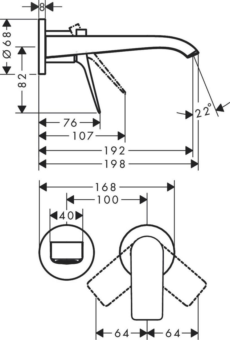 Picture of Vivenis zidna baterija sa slavinom od 19,2 cm