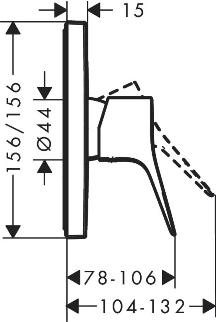 Picture of Vivenis mešač za tuširanje sa 1 funkcijom
