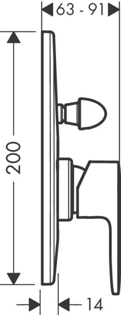 Picture of Vernis Blend mešač za tuširanje