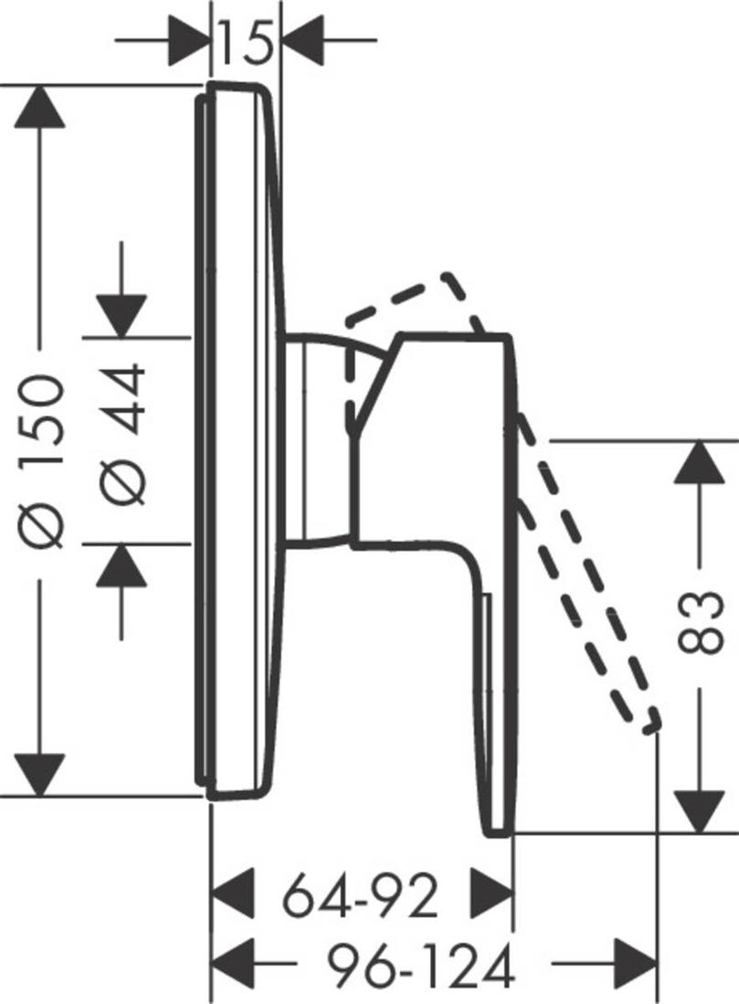 Picture of Vernis Blend jednoručni mešač za tuširanje sa 1 funkcijom