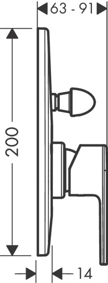Picture of Vernis Shape mešač za tuširanje