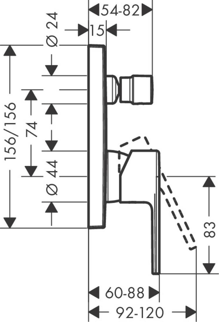 Picture of Vernis Shape jednoručni mešač za tuširanje