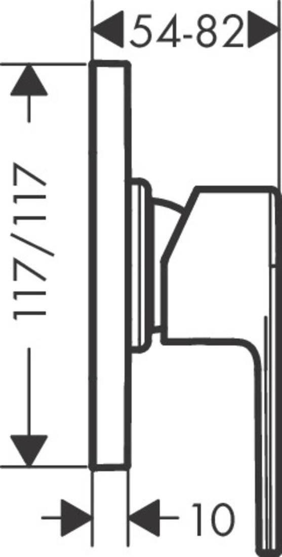 Picture of Vernis Shape mešač za tuširanje sa 1 funkcijom