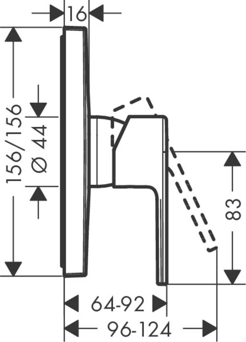 Picture of Vernis Shape jednoručni mešač za tuširanje sa 1 funkcijom