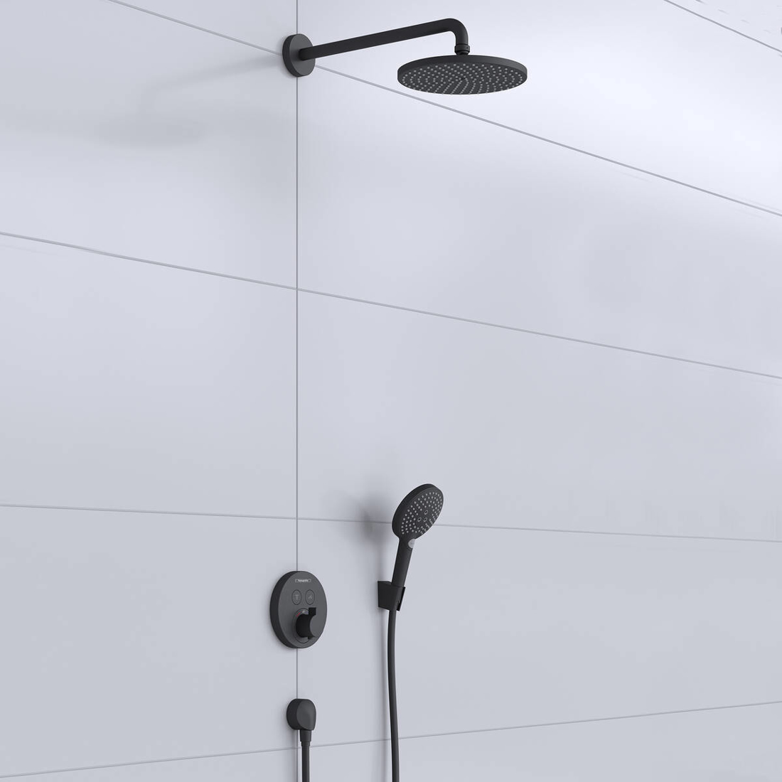 Picture of Raindance S Shower system 240 1 jet PowderRain with ShowerSelect S crna mat