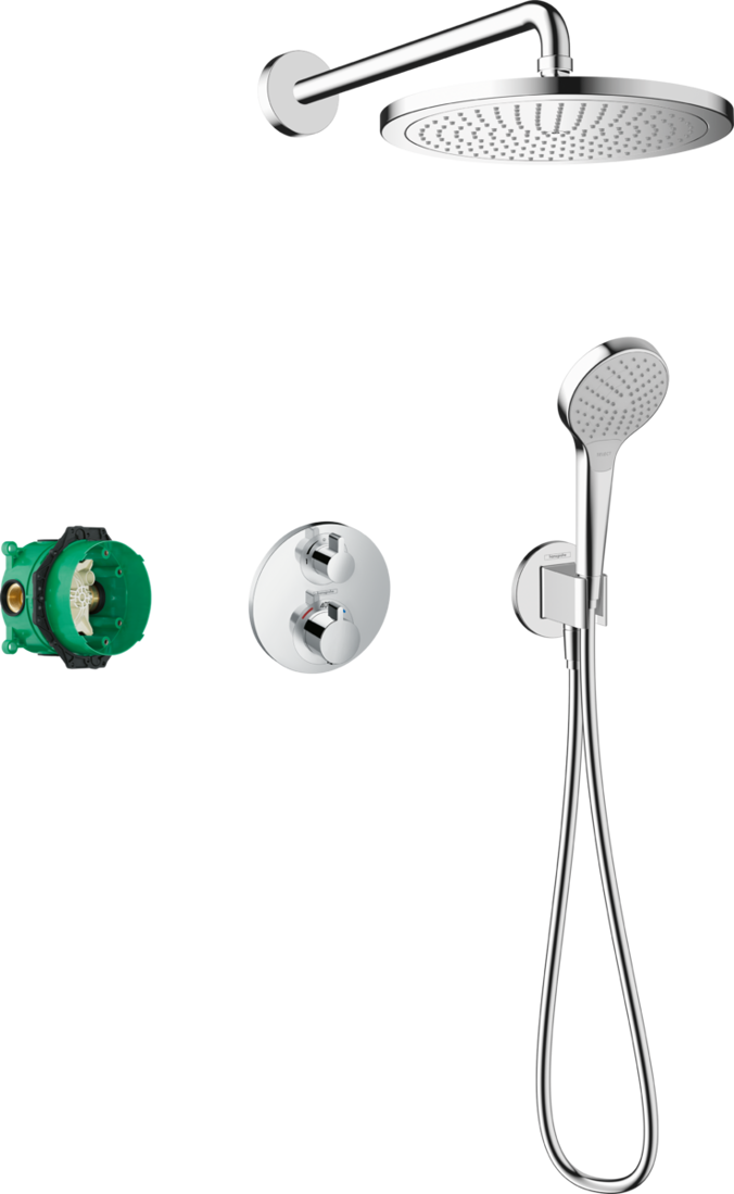 Picture of Croma Shower system 280 1jet with Ecostat S